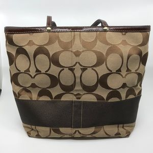 Coach Signature Logo Tote Bag